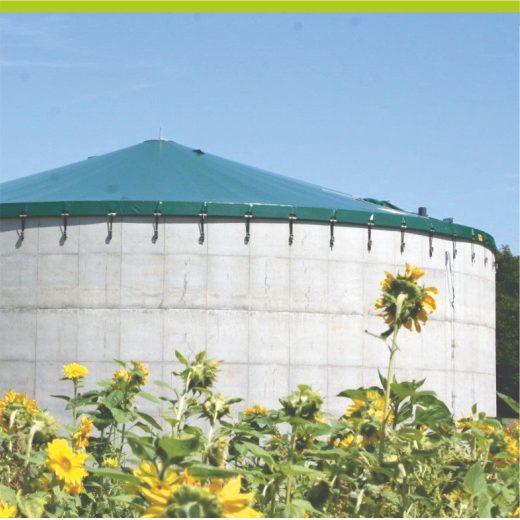 Emissionschutzdach für Behälter